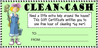house cleaning cash gift certificate customize template free