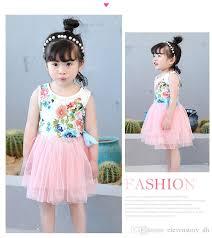 tulle wholesale floral tutu dress summer children baby kids tulle wholesale
