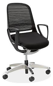 luce office chair in black modern office chairs u0026 task chairs