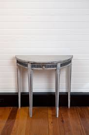 Small White Accent Table Furniture Mesmerizing Half Moon Accent Table With Elegant Looks