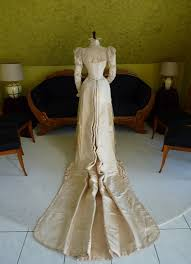 victorian wedding dress ca 1895 www antique gown com