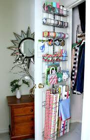 ways to store wrapping paper store wrapping paper and supplies on the inside of a closet door