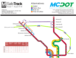 Red Line Map 5 Things To Know About Metro Track Work Aug 8 14 Wtop