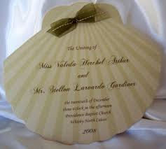 fan shaped wedding programs wedding invitations fan programs designs by ginny custom cut