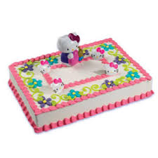 decopac hello kitty cake decorating decoration set kit topper