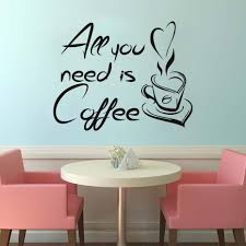 compare prices on adhesive vinyl letters online shopping buy low wall decals coffee cup home decor letters all you need is coffee quotes kitchen vinyl self