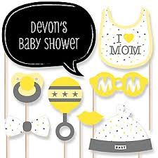 yellow and gray baby shower decorations hello one yellow and gray baby shower decorations theme