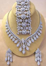 heavy diamond earrings stunning bridal necklace with simulated diamonds in silver gleam