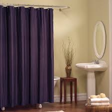 inspirational purple shower curtain with ruffled design for modern