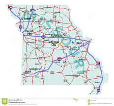 Map Of United States With Interstates by Missouri State Interstate Map Royalty Free Stock Photos Image