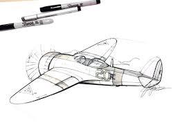 sketch of a plane by designer spencer nugent sketching