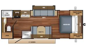 jayco jay feather 22rb travel trailer floor plan