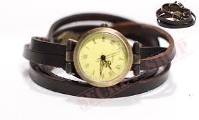 leather wrap bracelet watches images Dark brown triple wrap vintage leather bracelet wrap watch jpg