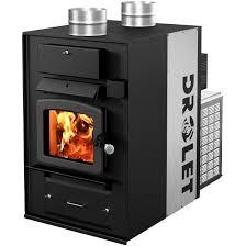 drolet heatmax 2400 sq ft epa rated high tech wood furnace gas