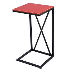 snack table maidmax 25 inch high c shaped sofa side end table