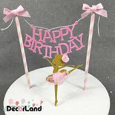 banner cake topper happy birthday girl pink cake bunting banner cake
