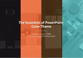 powerpoint design colors the essentials of powerpoint color theme