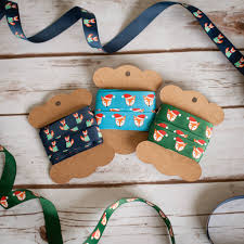 fox christmas jumpers hats foxes ribbon gifts craft by lovely