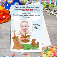 10 personalised teddy bears picnic birthday party photo