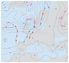 weather fronts map imaginary weather map europe showing isobars and weather fronts