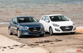 compact cars vs economy cars 2017 mazda3 vs hyundai i30 small car comparison video