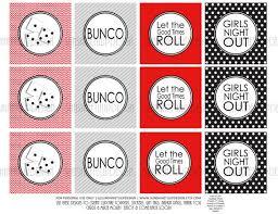 bunco party printable bunco party cupcake toppers printable bunco gift tags
