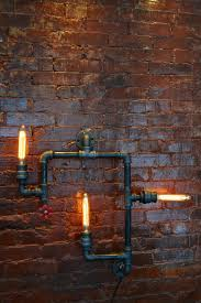 pipe au bureau medium industrial steunk pipe wall light industrial wall light