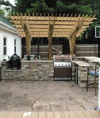 outdoor cooking spaces hardscapes back to nature landscaping