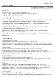 Sample Resume Format Australia by Academic Qualifications For Resume Free Resume Example And