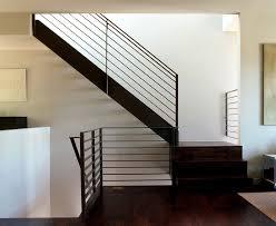 Banister Staircase Modern Stair Railing Staircase Modern With Metal Railing Dark Floor