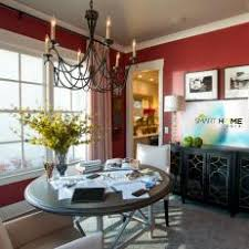 red traditional dining room photos hgtv
