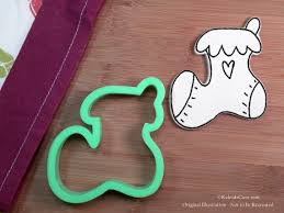 whimsy stocking cookie cutter santa u0027s bag cookie cutter