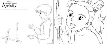 the secret world of arrietty printable activities u0026 coloring