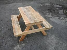 Make Your Own Picnic Table Bench by Diy Pallet Picnic Table
