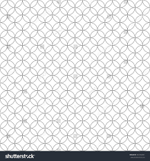round geometric seamless pattern fashion graphic stock vector