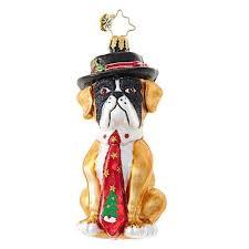 radko hey hat bulldog ornament new 2017
