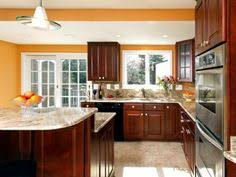 kitchen colors ideas cherry kitchen cabinets with gray wall and quartz countertops