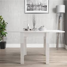 white high gloss table vivienne flip top white high gloss 4 seater dining table furniture123