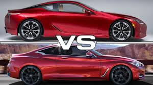 lexus lc 500 sport coupe lexus lc 500 vs infiniti q60 coupe youtube