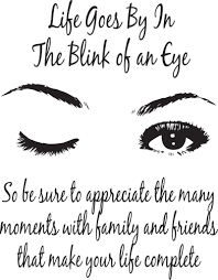 Family And Love Quotes by Life Goes By In A Blink Of An Eye Favorite Quotes Pinterest