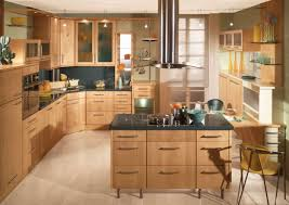 endearing laminate kitchen cabinets with recessed lights and inviting natural finished plywood kitchen