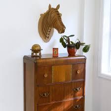 trophee elephant carton buste cheval en carton brun grand créer ses meubles en carton