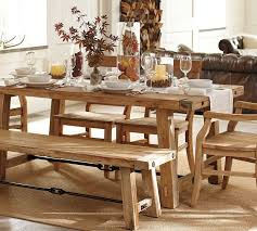 Bench Style Dining Tables Farm Table With Bench Farm Style Dining Room Table Farm