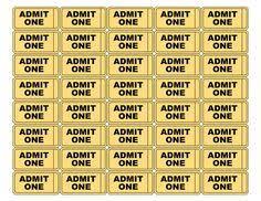 raffle tickets with numbers random pinterest printable