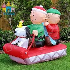Large Inflatable Christmas Decorations by China Giant Inflatable Christmas Snoopy Boys On Sleigh For Yard