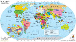 world map political with country names world political map