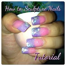 how to acrylic sculptured nails tutorial youtube
