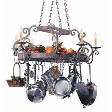 lighted hanging pot racks kitchen beautiful kitchen pot rack with lights features stainless steel