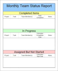 project weekly status report template excel best photos of monthly status report template weekly project