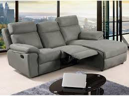 canapé d angle relax en tissu gris ou caramel artuki